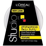 L'Oreal Paris Studio Overworked, Hair Putty Styling Gel, Texture