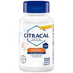 Citracal Petites Calcium Citrate Formula + D3, Coated Tablets- 100 ea