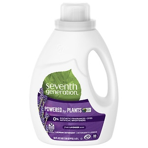 Seventh Generation Natural Liquid Laundry Detergent, 2X Concentrated, 33 Loads, Blue Eucalyptus & Lavender- 50 fl oz