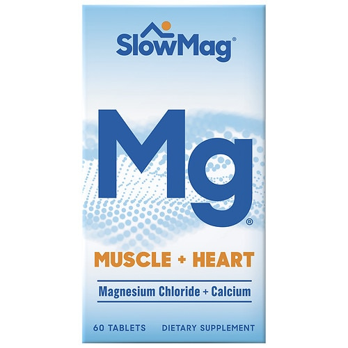 Slow-Mag Magnesium Chloride With Calcium, Tablets - 60 ea