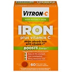Vitron-C Iron Supplement Plus Vitamin C, Coated Tablets- 60 ea