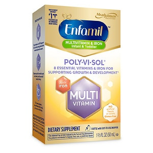 Enfamil Poly-Vi-Sol Supplement Drops, Multivitamin with Iron for Infants & Toddlers- 1.66 fl oz