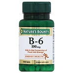 Nature's Bounty Vitamin B-6 100 mg, Tablets- 100 ea