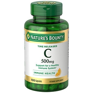 Nature's Bounty Time Release Vitamin C-500mg, Capsules- 100 ea