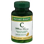 Nature's Bounty Delicious Chewable Vitamin C-500 mg With Rose Hips, Tablets- 90 ea