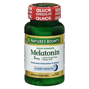 Nature's Bounty Natural Melatonin 3 mg, Tablets, 240 ea