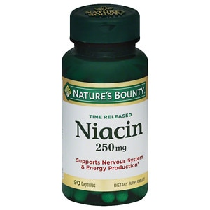 Nature's Bounty Natural Time Release Niacin 250 mg, Capsules, 90 ea
