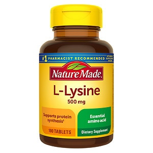 Nature Made L-Lysine, 500mg, Tablets- 100 ea