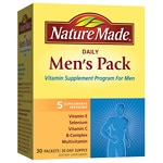 Nature Made Daily Men's Pack, Vitamin Supplement for Men, Packets- 30 ea