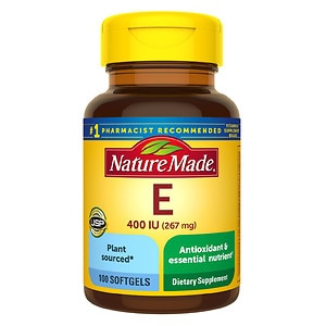 Nature Made 100% Natural Vitamin E, 400 IU, Liquid Softgels, 100 ea