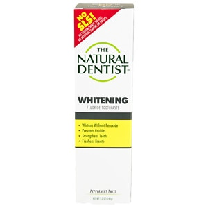 The Natural Dentist Healthy Teeth & Gums Whitening Plus Toothpaste, Peppermint Twist- 5 oz