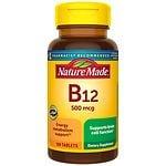 Nature Made Vitamin B-12, 500mcg, Tablets