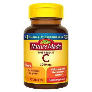 Nature Made Vitamin C with Rose Hips, 1000mg, Tablets- 60 ea