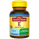 Nature Made Vitamin E 400 IU, Softgels- 100 ea