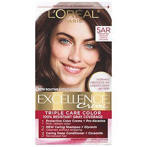 L'Oreal Paris Excellence Creme Haircolor, Medium Maple Brown 5AR