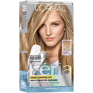 L'Oreal Paris Feria Permanent Haircolor, Star Light Extremely Light Blonde C100