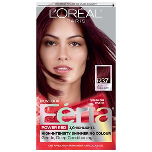L'Oreal Paris Feria Permanent Haircolor, Blowout Burgundy R37, 1 ea