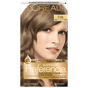 L'Oreal Paris Preference Fade Defying Color & Shine System, Permanent, Dark Blonde 7
