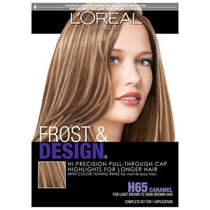 L'Oreal Paris Frost & Design Hi-Precision Pull-Through Cap Highlights, Frost & Design Caramel H65- 1 ea