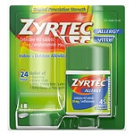Zyrtec Allergy 24 Hour 10mg Tablets- 45 ea
