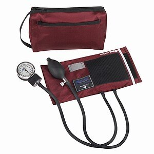 Mabis MatchMates Aneriod Sphygmomanometer Kit, Burgundy- 1 ea