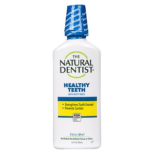 The Natural Dentist Healthy Teeth Anti-Cavity Fluoride Rinse, Fresh Mint- 16.9 fl oz