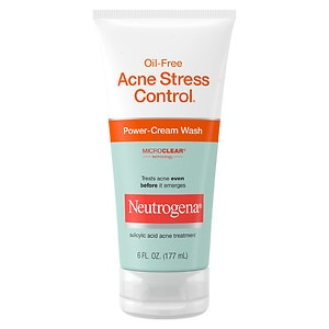 Neutrogena Oil-Free Acne Stress Control Power-Cream Wash- 6 fl oz