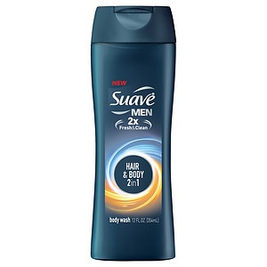 Suave for Men Body Wash, Hair + Body