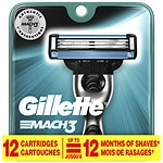 Gillette MACH3 Razor Refill Cartridges- 12 ea