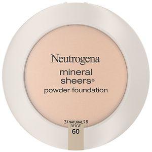Neutrogena Mineral Sheers Powder Foundation, Natural Beige 60