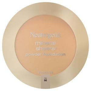 Neutrogena Mineral Sheers Powder Foundation, Tan 80