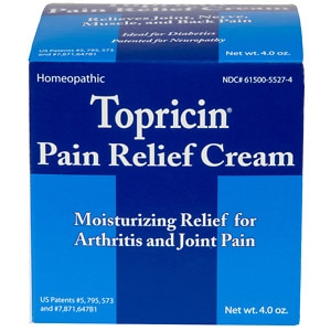 Topricin Anti-Inflammatory Pain Relief Cream, Jar