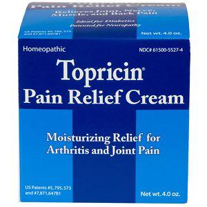 Topricin Anti-Inflammatory Pain Relief Cream, Jar- 4 oz