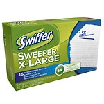 Swiffer Sweeper Professional Dry Sweep Cloths Mop, Broom Floor Cleaner Refills X Large, Unscented- 16 ea