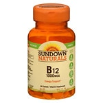 Sundown Naturals High Potency B12, 1000mcg, Tablets