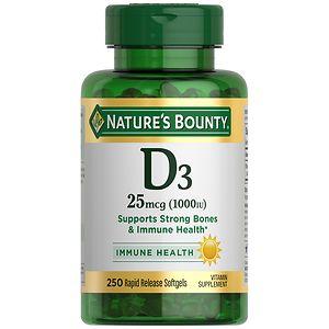 Nature's Bounty Vitamin D3-1000 IU, Softgels- 200 ea