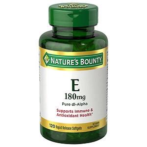Nature's Bounty E-400 IU, Pure dl-Alpha, Softgels