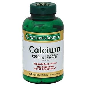 Nature's Bounty Calcium 1200mg Plus 1000IU Vitamin D3- 100 ea
