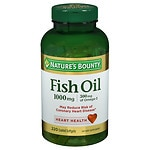 Nature's Bounty Odorless Fish Oil, 1000mg, Softgels