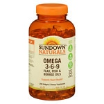 Sundown Naturals Triple Omega 3-6-9, Softgels- 200 ea