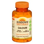 Sundown Naturals Calcium plus Vitamin D3, 600mg, Tablets