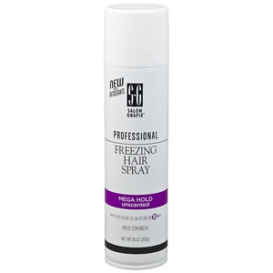 Salon Grafix Professional Freezing Hair Spray Styling Mist, Unscented Mega Hold