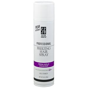 Salon Grafix Professional Freezing Hair Spray Styling Mist, Unscented Mega Hold- 10 oz