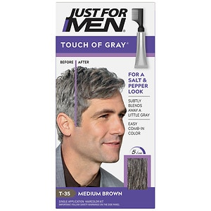 Just For Men Touch of Gray Haircolor, Medium Brown T-35- 1 ea