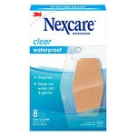 Nexcare Waterproof Clear Bandage, Elbow and Knee- 8 ea