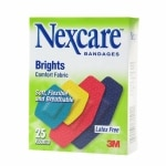 Nexcare Brights Comfort Fabric Bandages, Assorted Sizes- 25 ea