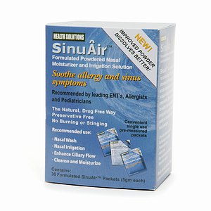 SinuAir Formulated Powdered Nasal Moisturizer & Irrigation Solution, Single-Use Packets- 30 ea