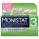 Monistat 3 Triple Action System, Combination Pack, 3-day Treatment- 3 pack