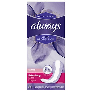 Always Xtra Protection Daily Liners, Extra Long, Fresh Scent