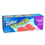Ziploc Vacuum Bags, Quart- 12 ea